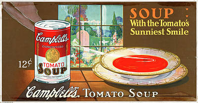 Tomato Drawing - Ad Campbell's Soup, C1925 by Granger