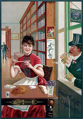 Ad Cigarettes, C1886 Art Print by Granger