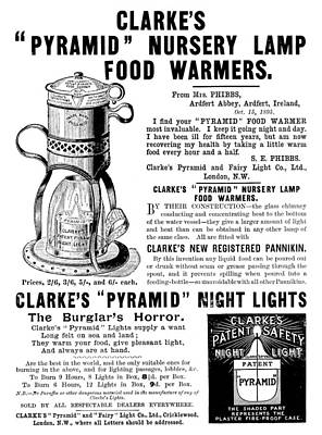 Night Lamp Painting - Ad Food Warmer, C1896 by Granger