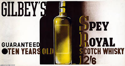 Scotch Painting - Ad Gilbey's Scotch, 1933 by Granger