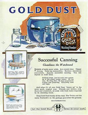 Ad Gold Dust, 1922 Art Print