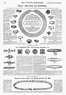 Ad Jewelry, 1890 Art Print