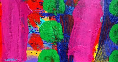 Small Abstract Painting - Ad Libitum by John  Nolan