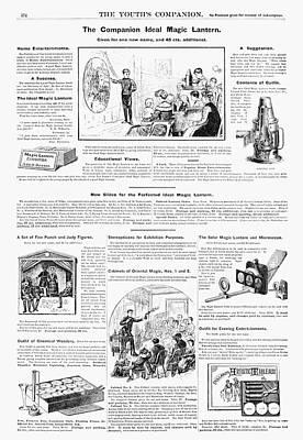 Magic Lantern Painting - Ad Magic Lantern, 1890 by Granger