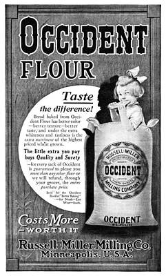 American Food Painting - Ad Occident Flour, 1911 by Granger