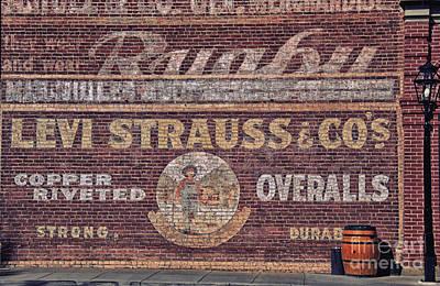 Ad On Brick Art Print