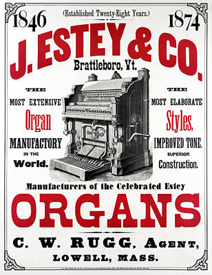 Painting - Ad Organs, C1874 by Granger
