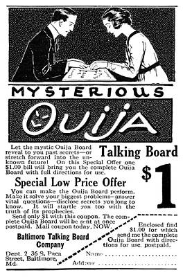 Spiritualism Painting - Ad Ouija Board, 1920 by Granger