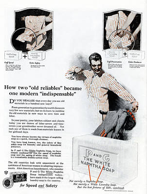 Wash Drawing - Ad P And G Soap, 1922 by Granger
