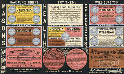 Cough Syrup Photograph - Ad: Patent Medicine, C1900 by Granger