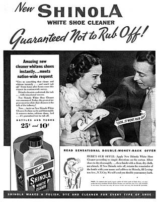 Ad Shoe Cleaner, 1936 Art Print by Granger