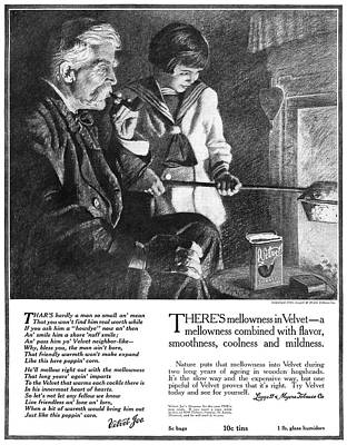 Cooks Illustrated Painting - Ad Tobacco, 1918 by Granger