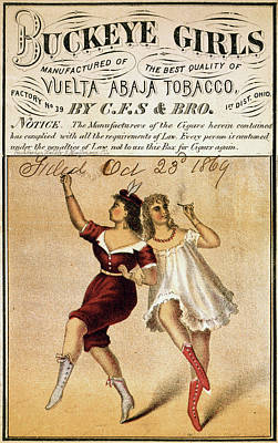 Dancing Girl Drawing - Ad Tobacco, C1869 by Granger