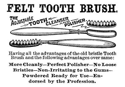 Felt Painting - Ad Toothbrush, 1887 by Granger