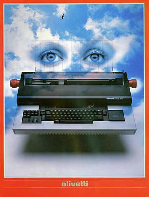 Olivetti Drawing - Ad Typewriter, C1975 by Granger