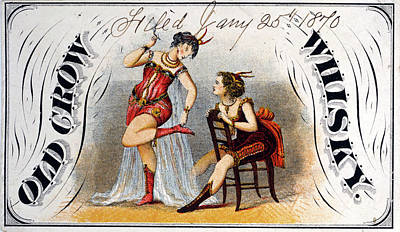 Burlesque Drawing - Ad Whiskey, C1870 by Granger