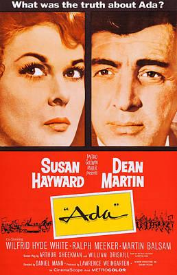 Dean Martin Poster Photograph - Ada, Us Poster Art, Susan Hayward, Dean by Everett