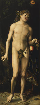 Eve Painting - Adam by Albrecht Dure