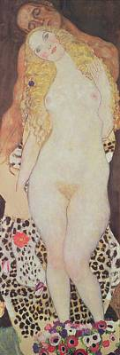 Adam And Eve Painting - Adam And Eve, 1917-18 by Gustav Klimt