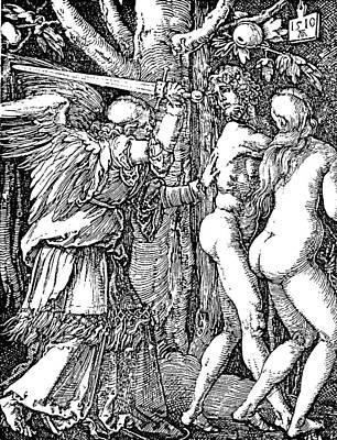 Adam And Eve Etching By Albrecht Durer Art Print