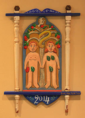 Adam And Eve Art Print by James Neill