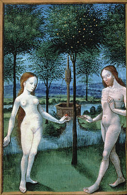 Painting - Adam And Eve (the Fall Of Man) Ms by Granger