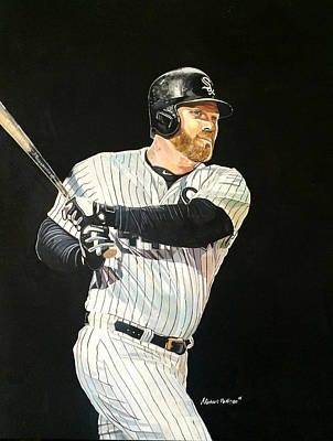 Adam Dunn - Chicago White Sox Print by Michael  Pattison