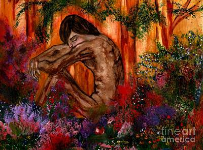 Painting - Adam In The Garden Of Eden by Lori  Lovetere