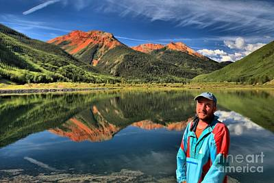 Photograph - Adam Jewell At Crystal Lake by Adam Jewell