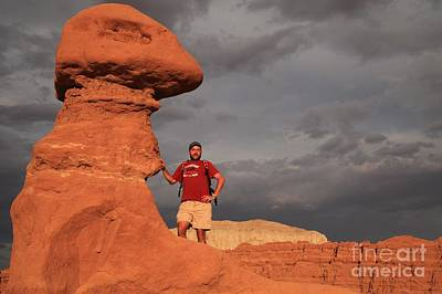 Photograph - Adam Jewell At Goblin Valley by Adam Jewell