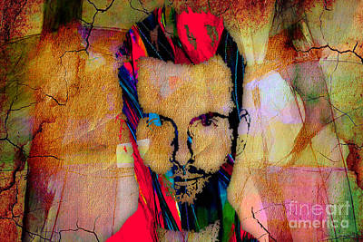 Abstract Mixed Media - Adam Levine Maroon 5 by Marvin Blaine