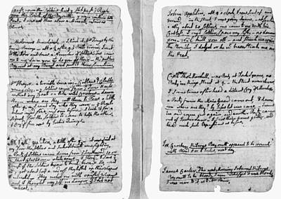 Painting - Adams Law Notes, 1770 by Granger