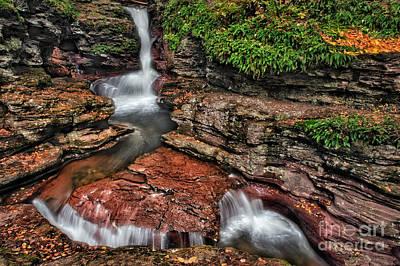 Photograph - Adam's Waterfall  by Susan Candelario