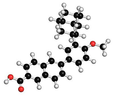 Adapalene Acne Drug Molecule Art Print by Molekuul