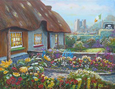 Adare Gardens Co Limerick Art Print by Tomas OMaoldomhnaigh