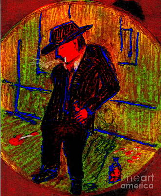Addict Painting - Addicted Man 12 by Richard W Linford