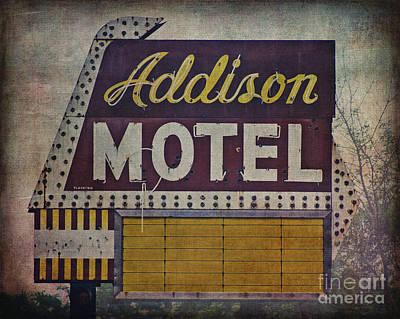 Addison Motel In Chicago Art Print by Emily Kay