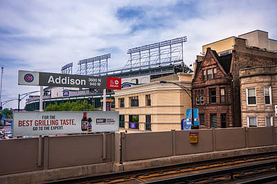 Photograph - Addison Street Station by Tom Gort