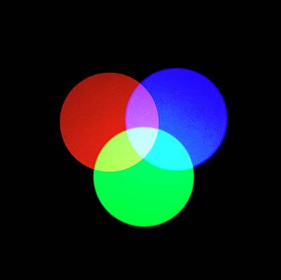 Additive Photograph - Additive Primary Colours by Science Photo Library