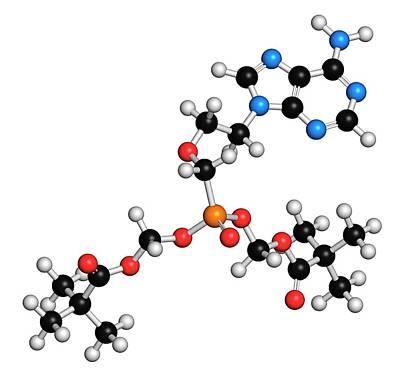 Chemical Photograph - Adefovir Dipivoxil Hepatitis B Drug by Molekuul