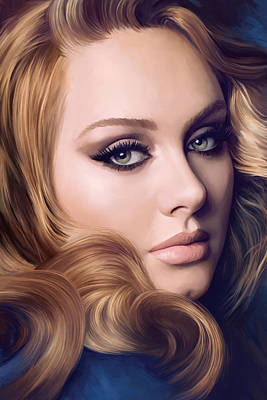 Adele Artwork  Art Print by Sheraz A