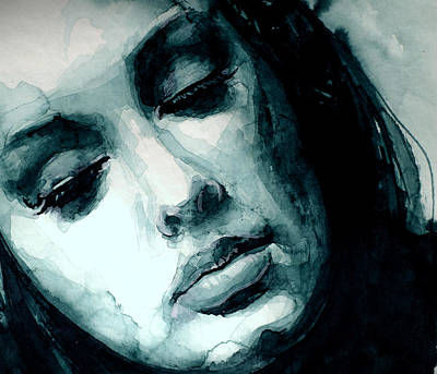Painting - Adele In Watercolor by Laur Iduc