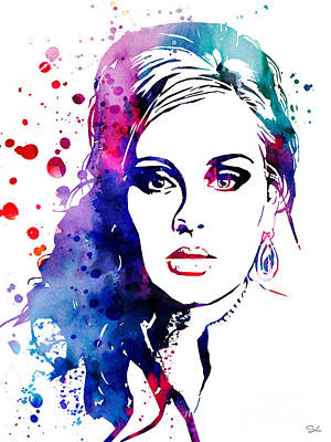 Adele Wall Art - Painting - Adele by Watercolor Girl