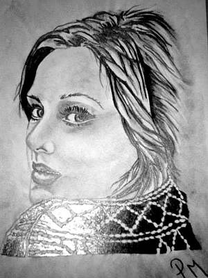 Drawing - Adele by Pauline Murphy
