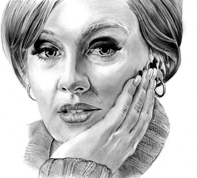 Adele Drawing - Adele by Peter Martin