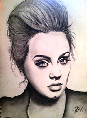 Adele Drawing - Adele- Someone Like You by Araceli Rizo
