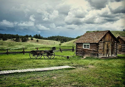Photograph - Adeline Hornbeck Homestead - Florissant Fossil Beds Nm by Gregory Ballos