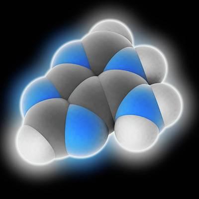 Adenine Molecule Art Print by Laguna Design