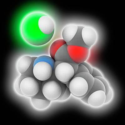 Adhd Drug Molecule Art Print
