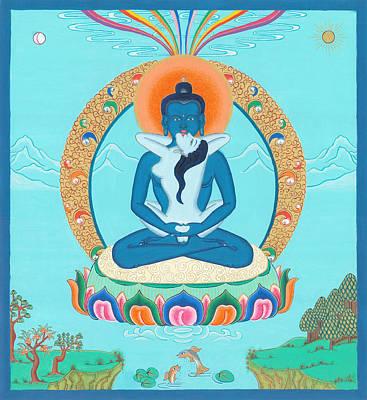 Tibetan Buddhism Painting - Adi Buddha by Ies Walker